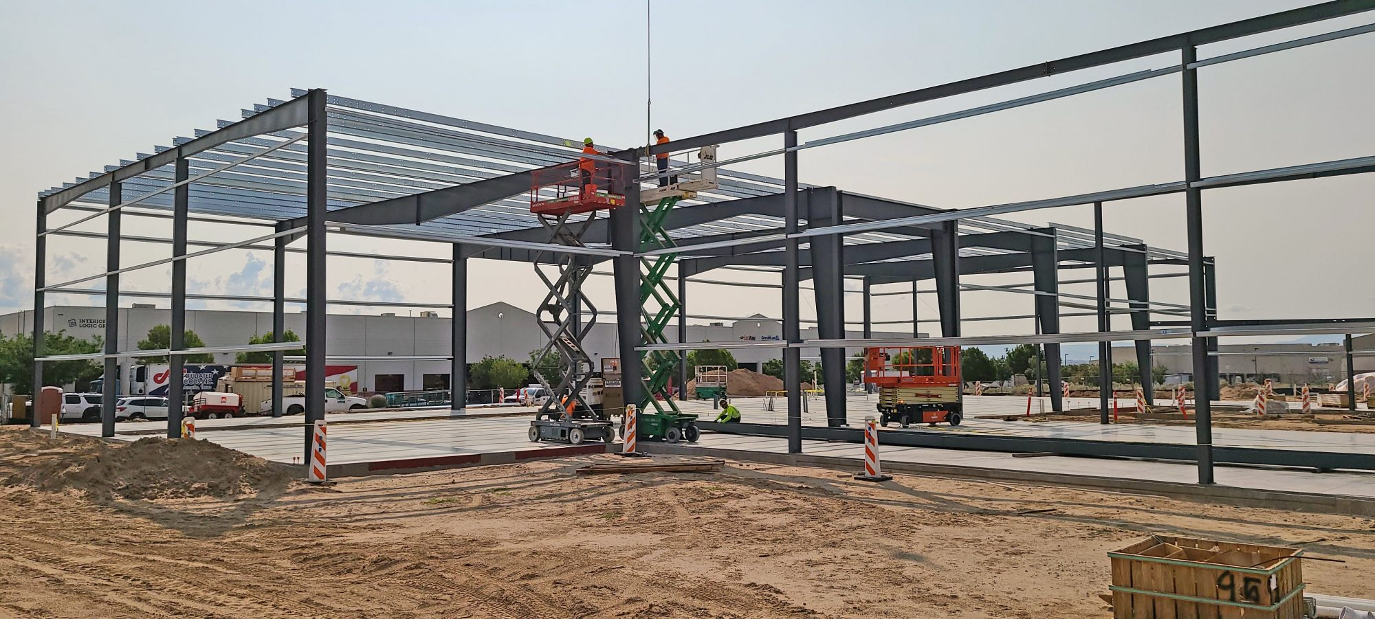 Construction of Quality Fruit and Vegetable Company warehouse/office.